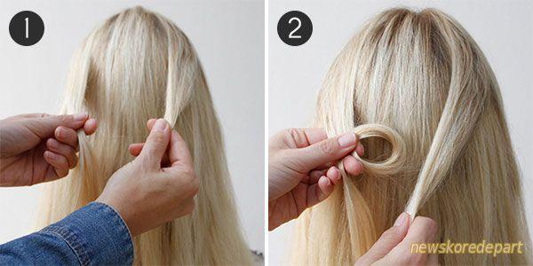 Как сделать узел на волосах